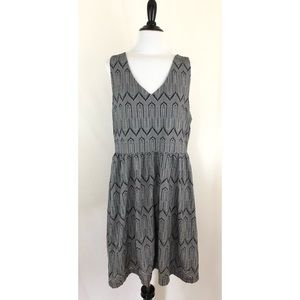 Lucky Brand V-Neck Elastic Waist Dress-Size XL